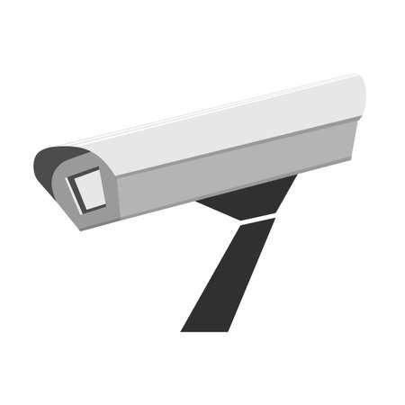 Surveillance camera. Tracking Vector illustration
