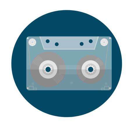 Cassette. Audiocassette. Vector illustration