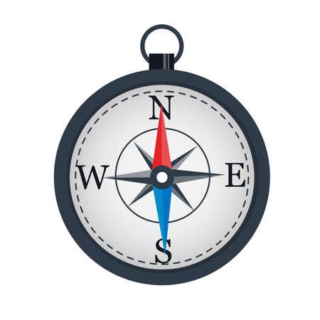 Compass The arrow indicates the direction. Location Vektorové ilustrace