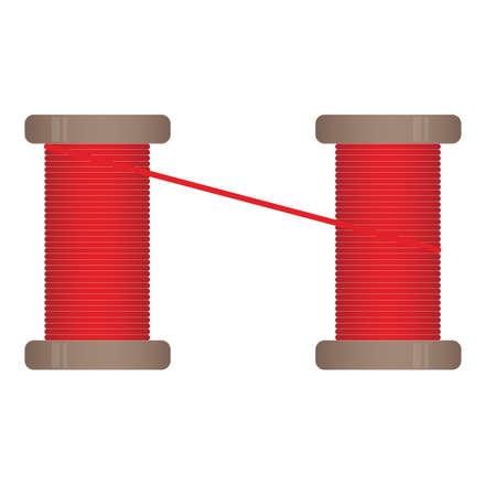 Spool of thread. Thread Vector illustration