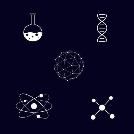 Chemistry. Molecular chemistry. Vector illustration