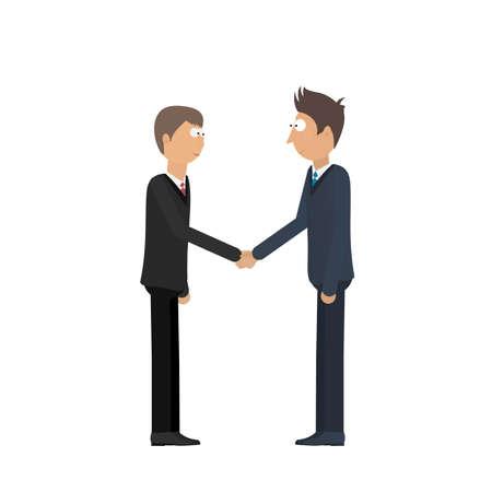 Partnership of businessmen. Handshake. Vector illustration