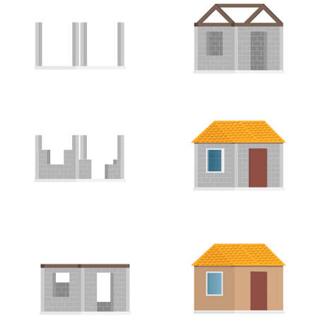 House construction. Building. Vector illustration Ilustração