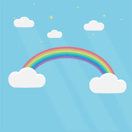 Rainbow Rainbow in the sky, vector illustration 写真素材 - 149551255
