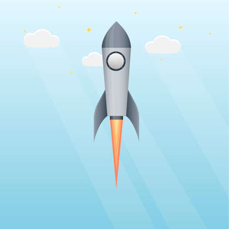 Rocket The launch of a rocket, vector illustration Ilustrace