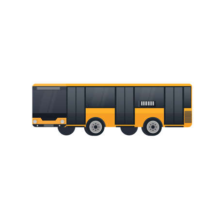 Bus. A vehicle for transporting passengers. Vector illustration Vettoriali