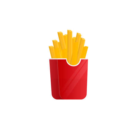 French fries. Fast food, vector illustration Ilustrace