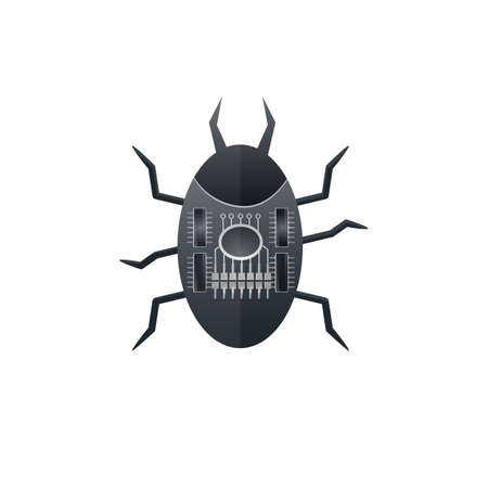 Computer bug. Software bug. Search for errors, vector illustration Ilustrace