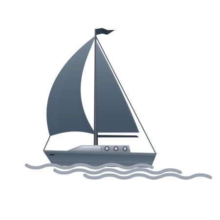 Sailing boat. Yacht, vector illustration Reklamní fotografie - 149903144