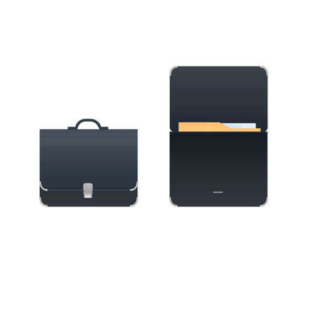 Briefcase Briefcase with documents, vector illustration Vectores