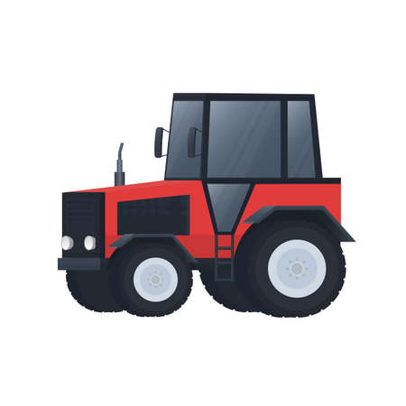 Tractor Transport for the farm. Vehicle, vector illustration