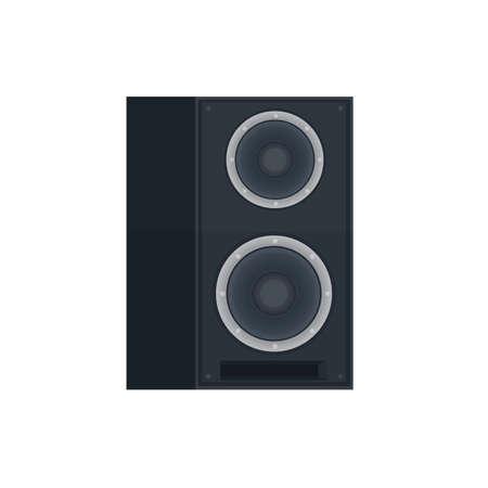 Sound speaker. Music column, vector illustration
