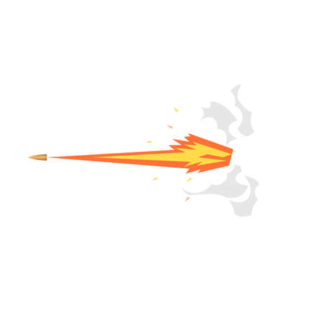 Shot with fire and smoke, vector illustration Ilustrace