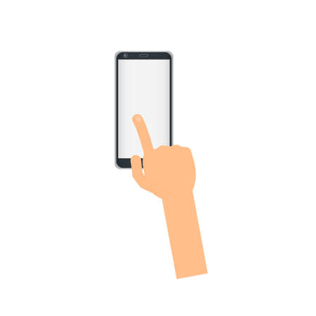 A swipe of the phone vector illustration. Ilustrace
