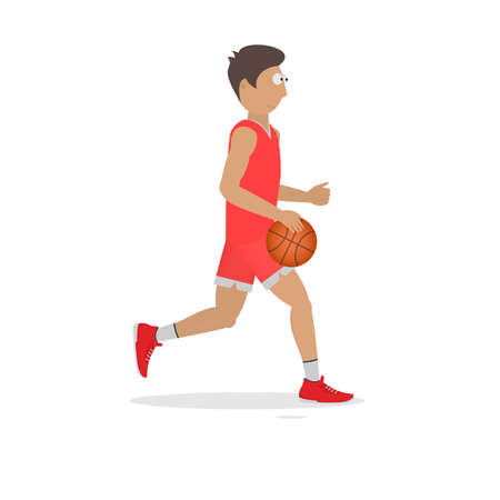 Basketball player with a ball, vector illustration Reklamní fotografie - 152061611