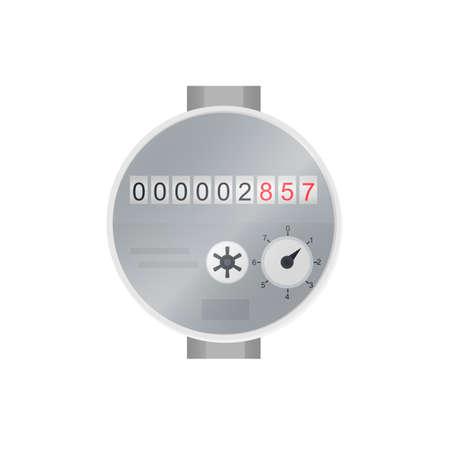 Water meter, vector illustration
