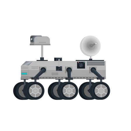 Mars vehicle vector illustration