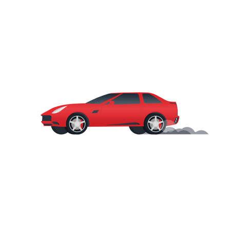 Car. Fast driving, vector illustration Reklamní fotografie - 152375001