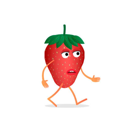 Strawberry. Strawberry character, vector illustration