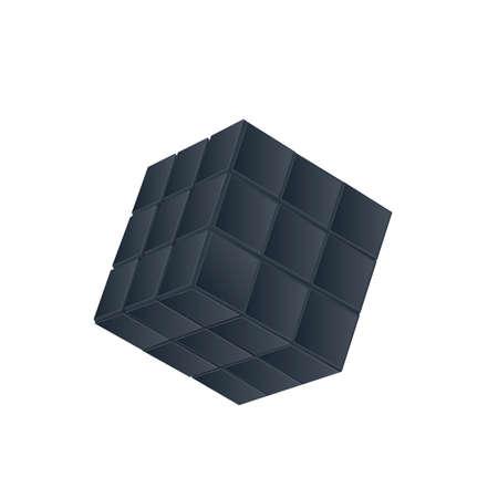 Cube. Faceted cube, vector illustration Reklamní fotografie - 152375028