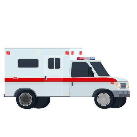 Ambulance car. Transport, vector illustration