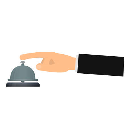 Reception bell. Bell, vector illustration Reklamní fotografie - 153201682