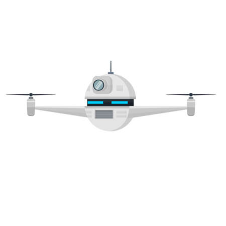 Drone. Unmanned aerial vehicle, vector illustration