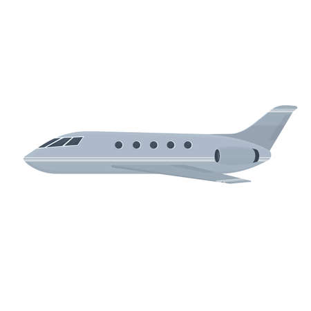 Private jet. Commercial aircraft, vector illustration