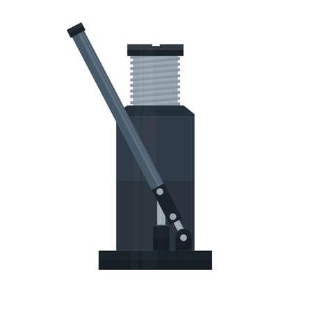 Hydraulic jack. Jack, vector illustration
