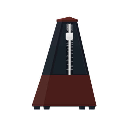 Metronome. The movement of the metronome, vector illustration