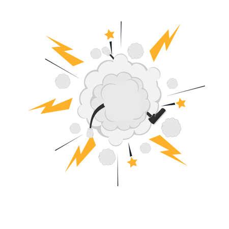 Cloud fight. Cartoon style, vector illustration  イラスト・ベクター素材