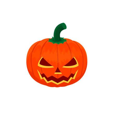 Halloween pumpkin. Halloween decoration, vector illustration
