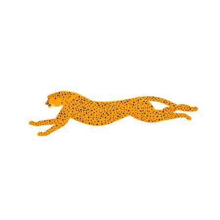 Cheetah. Running Cheetah, vector illustration