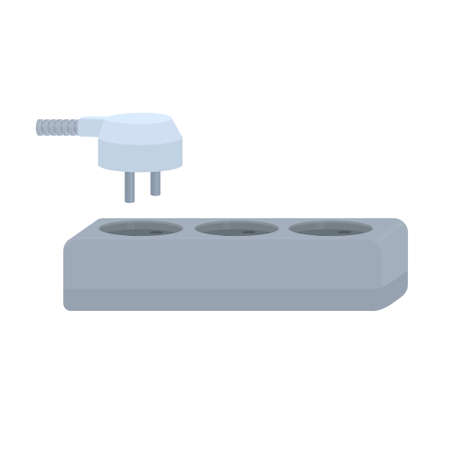 Electrical plug and socket. Power supply, vector illustration