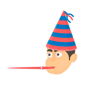 Birthday boy. Birthday celebration, vector illustration