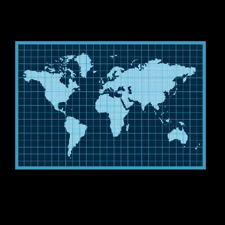 Contour map of the world, vector illustration Ilustrace
