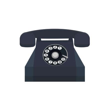 Telephone set. Phone call, vector illustration Ilustrace