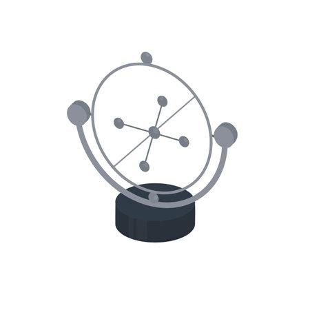 Pendulum. Rotation of spheres, vector illustration