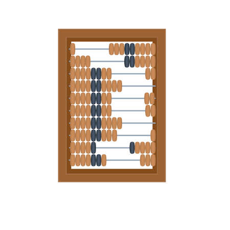 Wooden accounting abacus, vector illustration Ilustrace