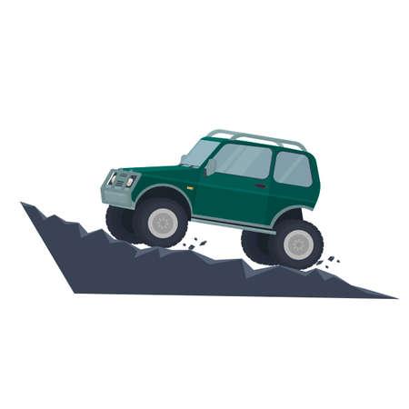 SUV. Off-road car, vector illustration