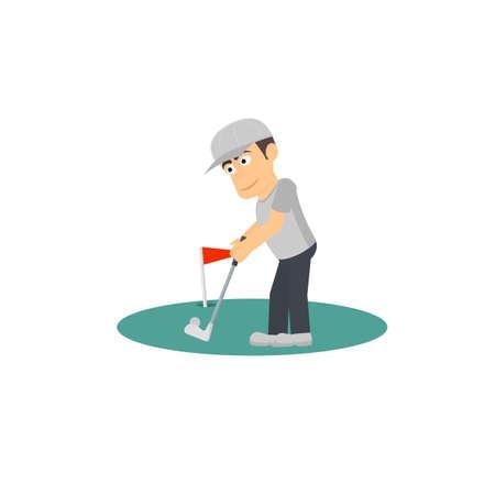 Golfer. The game of Golf, vector illustration