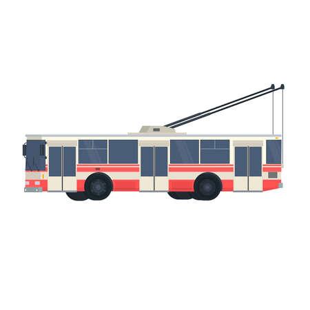 Trolleybus. Electric transport, vector illustration Ilustrace