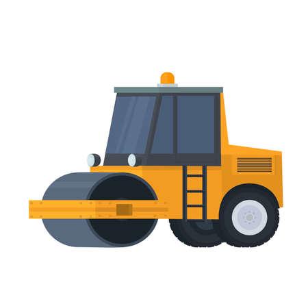 Road rink. Construction equipment, vector illustration