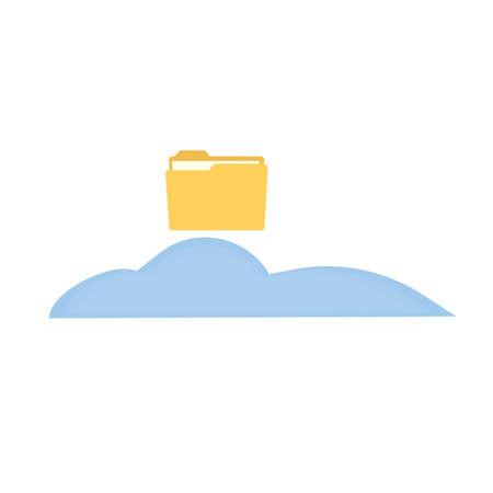 Cloud data storage, vector illustration Ilustrace