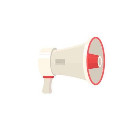 Device is a loudspeaker. Megaphone, vector illustration