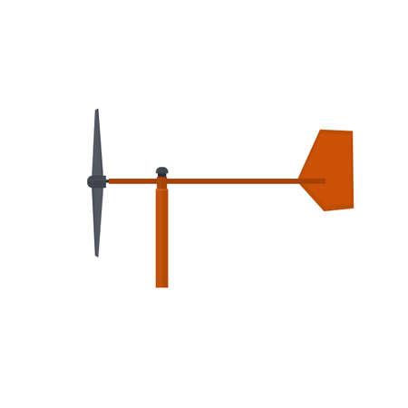 Weather vane. Determining the wind direction. Glider, vector illustration Ilustrace
