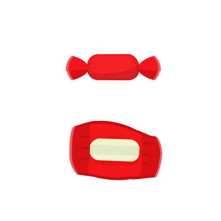 Caramel. Candy wrapper, vector illustration Vettoriali