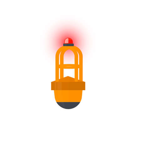 Buoy. Lighthouse with signal lights, vector illustration Vettoriali