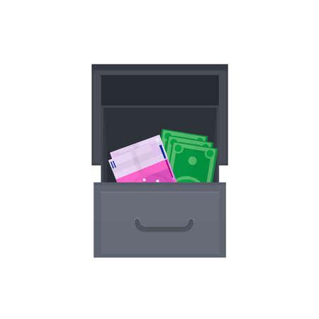 Exchange of money. Money exchanger, vector illustration Vettoriali