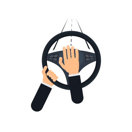 Beep. Car honks, vector illustration